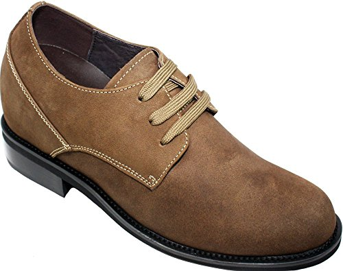 CALDEN Men Leather 3.6 Inches Casual Shoes Brown