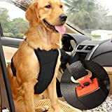 Musonic Dog Safety Vest Harness with Safety Belt for Most Car, Travel Strap