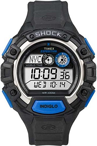 Timex Expedition Global Shock Watch - Black/Blue (Expedition Watch Quartz)
