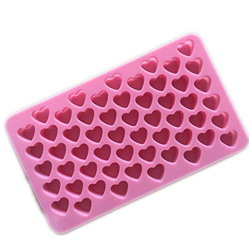 Large Product Image of Longzang Silicone mold Mini Heart Shape Silicone Ice Cube / Chocolate Mold Pink