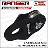 Ranger Commercial Reliability Snatch Block with Grease Fitting by Ultranger (8 Tons 17,600 LBs)
