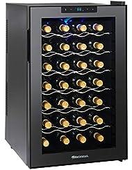 Wine Enthusiast Silent 28 Bottle Wine Refrigerator - Freestanding Touchscreen Wine Cooler, Black