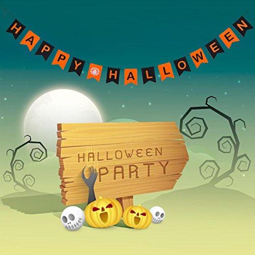 Happy Halloween Banner Happy Halloween Decoration Happy Halloween Garden Flag 1Set 3M Includes (Happy Halloween Friends Pics)