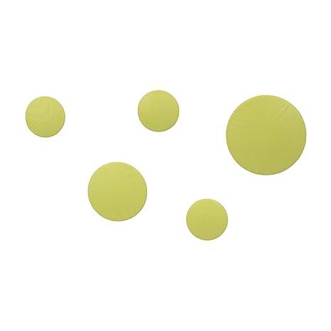 Vaukura Percheros de Pared Dots - Percheros de Madera (Amarillo)