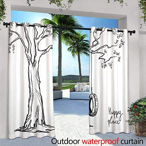 Lightly Fashions Drape,Famous Oregon Multnomah Falls Near Portland, Oregon, United States Waterfalls in Columbia River Gorge Area,W84 x L96 Outdoor Curtain Waterproof Rustproof Grommet Drape
