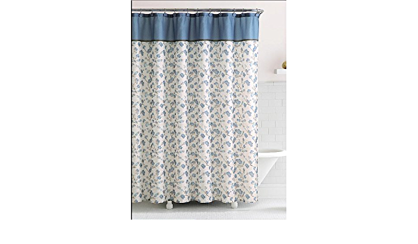 delancy floral fabric shower curtain