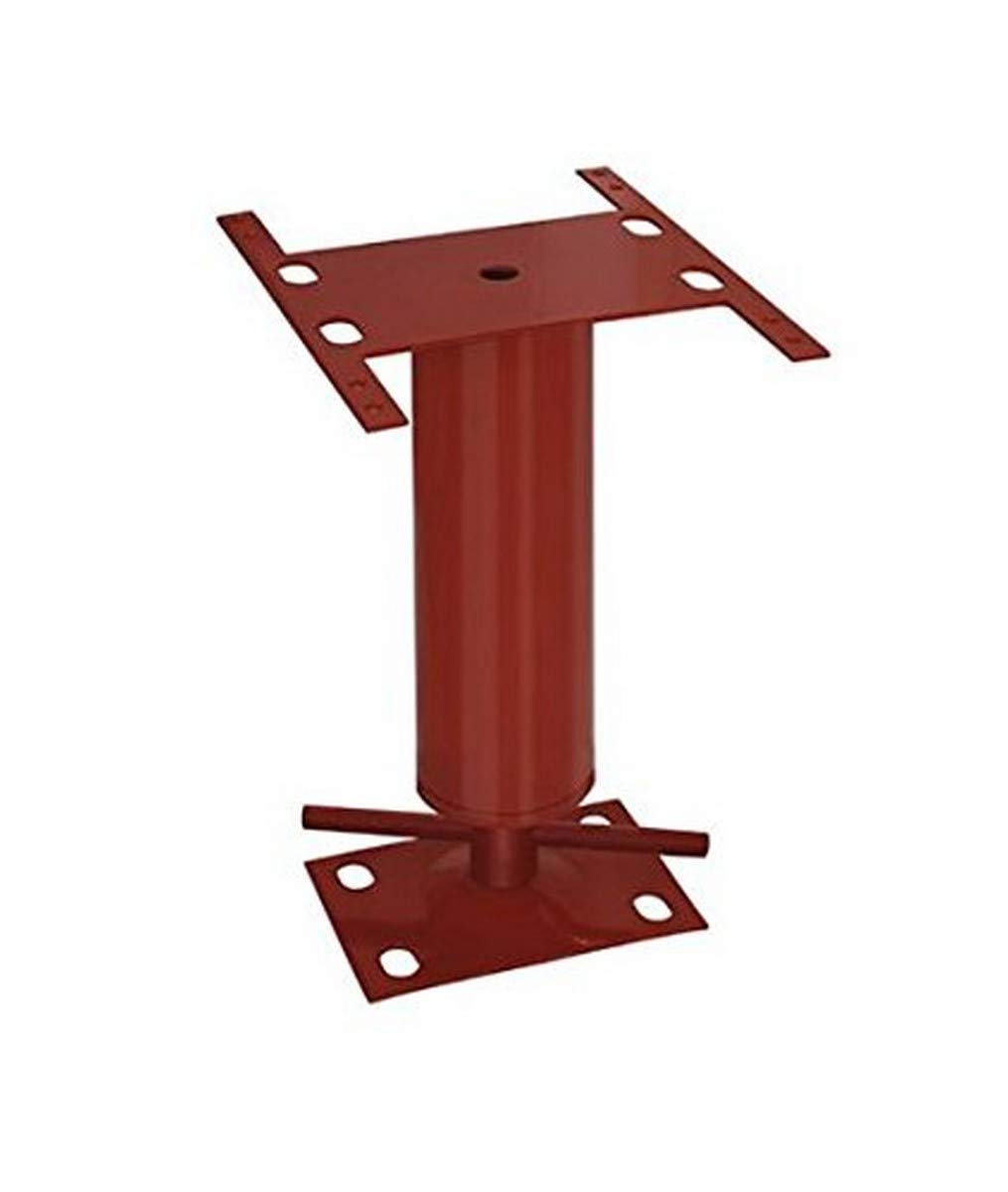 "Akron Products J Mobile Mobile Home Utility Jack, 12-16"", 12"" Length, 12"" Height, Red"
