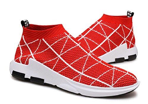 Herren Laufschuhe Free Transform Flyknit Fashion Sneakers von JiYe Rot-1