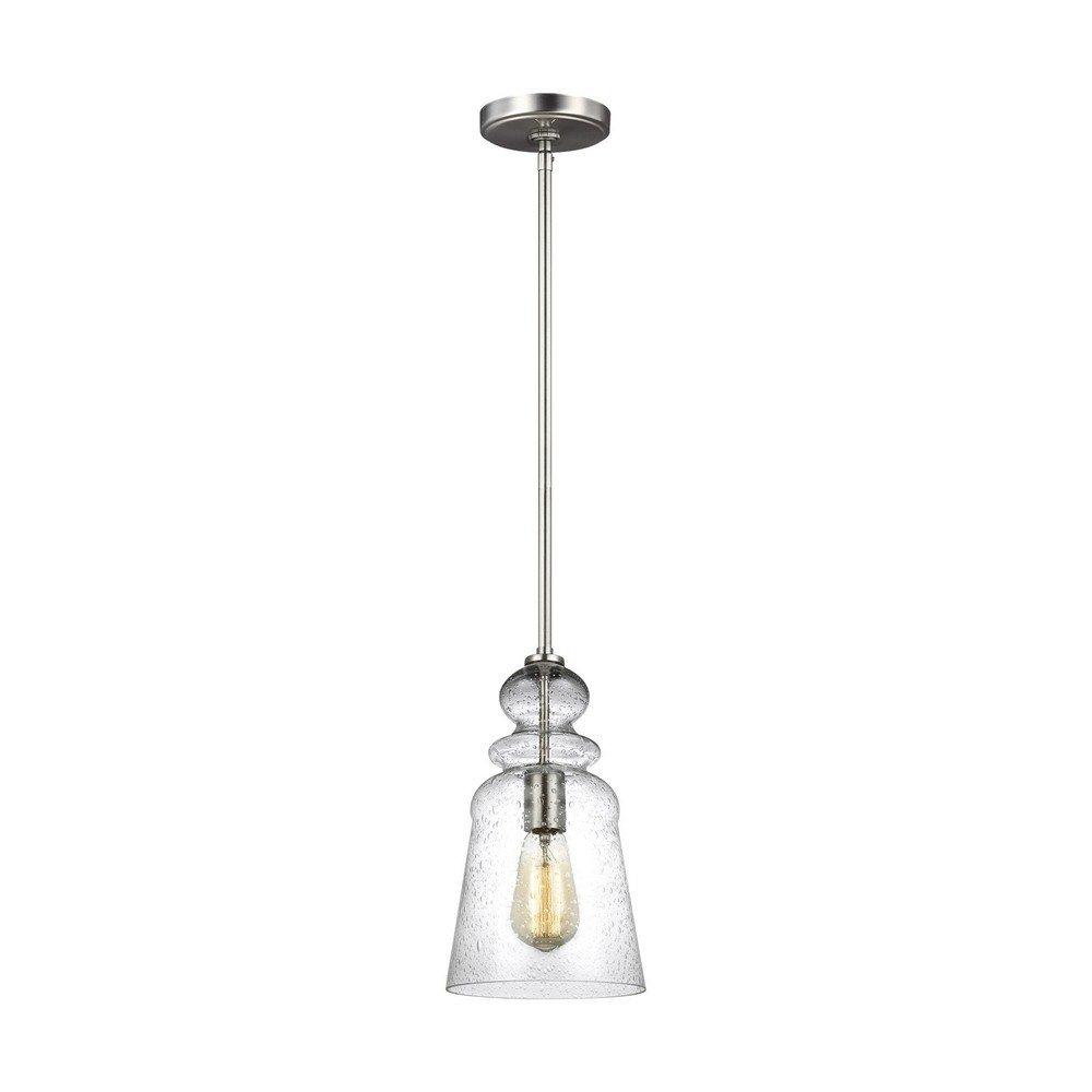 Sea Gull Lighting 6536901-962 One Light Pendant, Brushed Nickel
