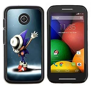 S0nic Hedgehog- Metal de aluminio y de plástico duro Caja del teléfono - Negro - Motorola Moto E / XT1021 / XT1022