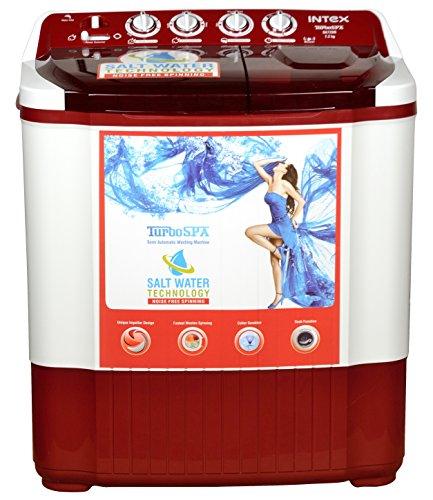 Intex WMSA72DR Semi-automatic Top-loading Washing Machine (7.2 Kg, Dark Red)