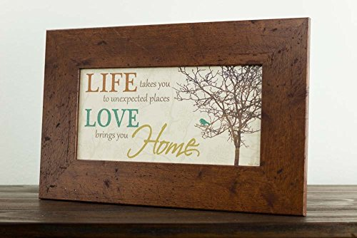 Life Takes You To Unexpected Places Love Brings You Home Framed Art Decor 10x16'' by Summer Snow (Image #1)