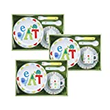 C. R. Gibson Melamine Alphabet Animals Dinnerware Set – 3 Sets – 15 Pieces