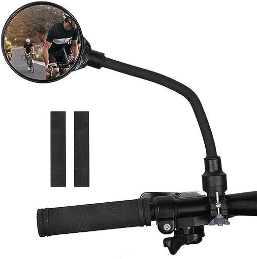 Titcch - 1 Espejo retrovisor para Bicicleta, Ajustable, Giratorio ...
