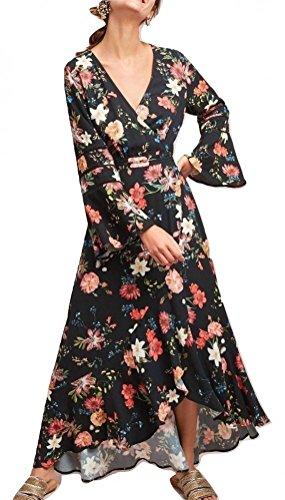 io Summer Flower Wrap Dress $228 Sz XS - NWT ()