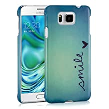 kwmobile Hard case Design Smile for Samsung Galaxy Alpha in blue turquoise