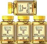 Puritan's Pride Vitamin E 1000 IU Soft Gels,100 Count (4 Pack)