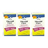 Terry Naturally EuroPharma Thyroid Care Iodine with L-Tyrosine, 60 Capsules - 3 Pack