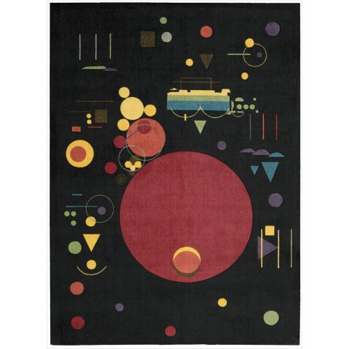 Nourison Modern Art (MDR04) Onyx Rectangle Area Rug, 5-Feet by 7-Feet  (5' x - 5 Onyx Rugs Area