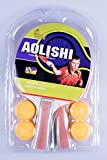 AOLISHI 2 ping pong, Table Tennis Rackets/Paddles Set with 4 Balls. (1070)