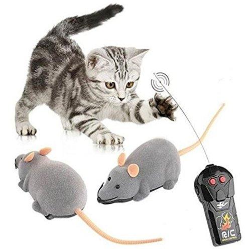Lalang Lustige Pet interaktiven Bildungs-Spielzeug, Grau Kleine Maus Funny Katze Spielzeug