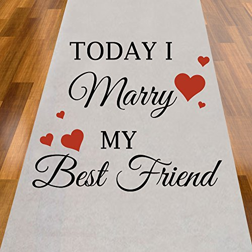 Today I Marry My Best Friend Red Hearts Aisle Runner]()