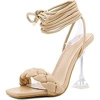 Details about  /Breckelles Sydney-24 New Women Open Toe Chiffon Fabric Stiletto Heel Sandal Pump