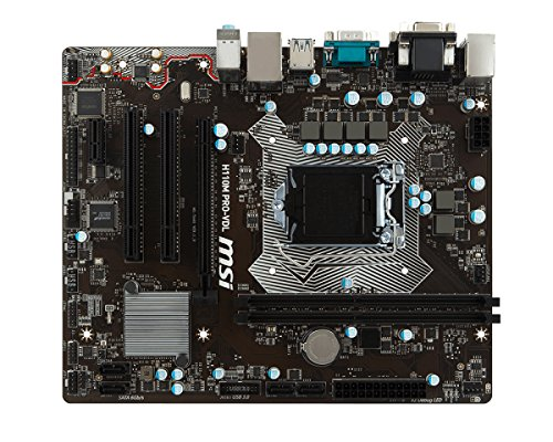 Placa Base MSI 911-7A49-001 H110m Pro-Vdl, 1151, H110, 2ddr4, 32gb, Vga+Dvi, Gblan, 4sata3, 4usb3.1, Matx