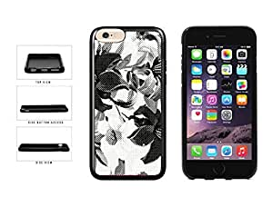 Dotted Flowers Black and White TPU RUBBER Phone Case Back Cover Apple iphone 5 5s inches screen) includes diy case Cloth and Warranty Label