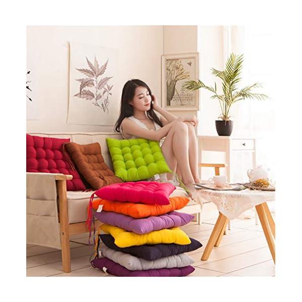 AGDLLYD Cuscino per Sedia, Cuscini per Giardino, per Dentro o Fuori,40x40x5 cm Cuscini da Sedia Trapuntati,Disponibile… 4 spesavip