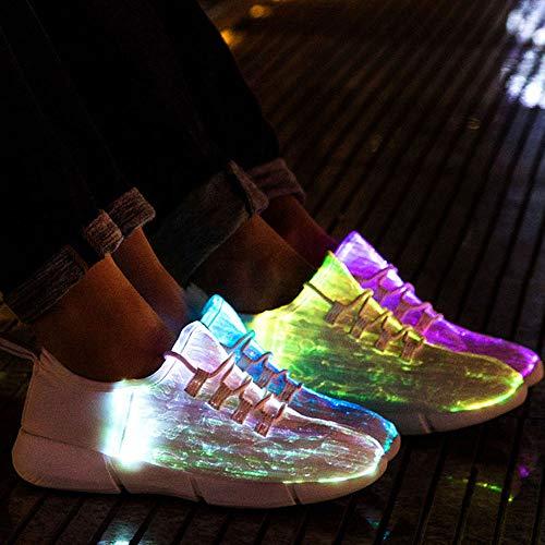 Idea Frames Fiber Optic Led Light Up Shoes White For Women