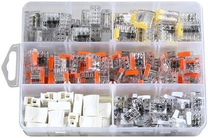 borne 2//3//5 fils 3 connecteurs de c/âble poussoir de mod/èle diff/érent ensemble de bornes enfichables Charminer 60 pi/èces Jeu de bornes de connexion de haute qualit/é
