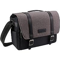 MOSISO Camera Bag, Water Repellent Polyester Large Shoulder Messenger Handbag for Digital SLR/DSLR Cameras (Nikon, Canon, Sony, Pentax, Olympus Panasonic, Samsung and More), MacBook, Laptops, Black