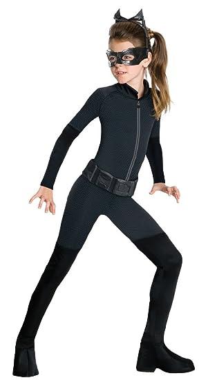 Disfraz Oficial de Batman Catwoman de RubieS para niños de 12 a 13 años.