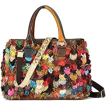 fe07de4eb On Clearance Luxury Multicolor Tote Flower Big Shoulder Bag Floral  Colorblock Handbag Patchwork Purse-Sibalasi