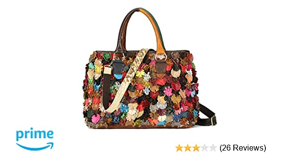 Amazon.com  On Clearance Luxury Multicolor Tote Flower Big Shoulder Bag  Floral Colorblock Handbag Patchwork Purse-Sibalasi  Shoes 4a02203a346cd