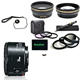 For Canon Rebel T3i: Canon EF 50mm f/1.8 II USA Pro Kit Lens and Filter Bundle Package Includes:+ 1x Canon EF 50mm f/1.8