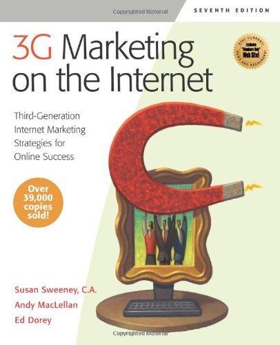 Read Online 3G Marketing on the Internet: Third-Generation Internet Marketing Strategies for Online Success: 1st (First) Edition PDF