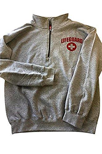 LIFEGUARD Quarter Zip Pullover - Zipper Fleece Sweatshirt Apparel Ideal for Men, Teens, Girls.