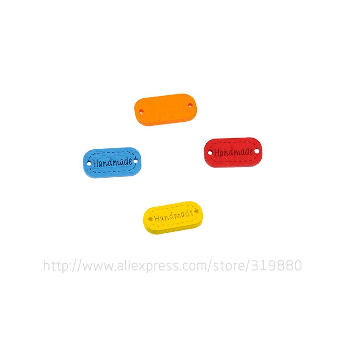 HDTTCX - Botones de madera para manualidades - Botones de madera para coser - caliente 30 botones de madera multicolor hecho a mano letra tallado botones ...
