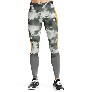 Mission Women's VaporActive Altitude Full Length Leggings, Quiet Shade/Cloud Quiet Shade/Gold Fusion, X-Small