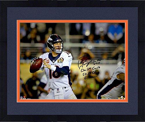 Framed Peyton Manning Denver Broncos Autographed 16