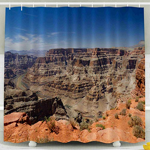 KIOAO Farmhouse Shower Curtain Liner Fabric,Grand Canyon The West Rim 78X72Inch Waterproof Extra Long Shower Curtains