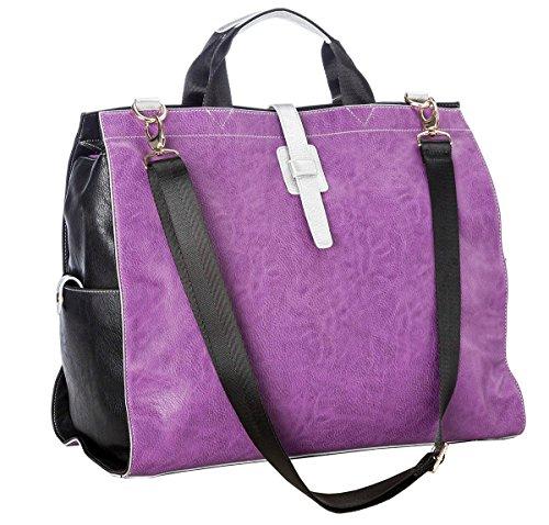 Sydney Love Plum and Black Overnight Bag by Sydney Love