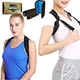 """Back Posture Corrector for Women & Men + Double Detachable Pads - Effective and Comfortable Posture Brace for Slouching & Hunching - Discreet Design - Clavicle Support Brace (28""""-50"""")"""
