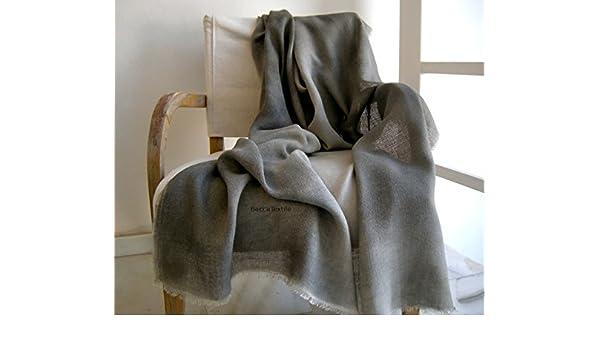 Manta decorativa gris,Manta de fibras naturales, yute ...