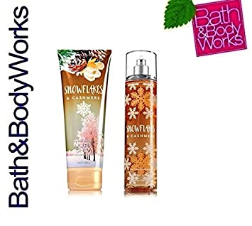 Bath Body Works SNOWFLAKES CASHMERE GIFT SET Body Cream Fine Fragrance Mist Full size