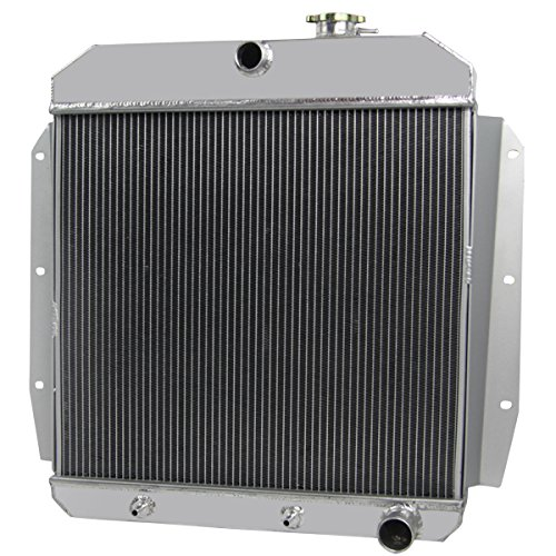 Primecooling 55MM 3 Row Core Aluminum Radiator for Chevrolet GMC Trucks Pickup 1955-1959