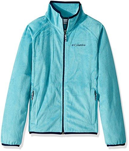 Columbia Girls' Little Pearl Plush Full Zip Jacket, Pacific Rim, XX-Small