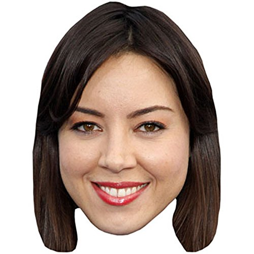 Aubrey Plaza Celebrity Mask, Card Face and Fancy Dress Mask